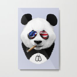 American Panda Metal Print