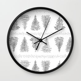Holiday Trees Wall Clock