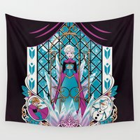 olaf Wall Tapestries featuring Don't let them know by Nados