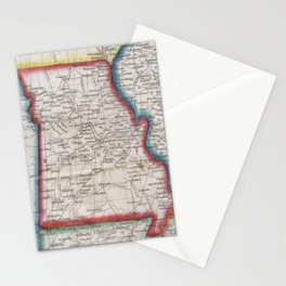 Vintage Map of Missouri (1848) Stationery Cards