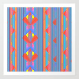 Bold Color Geometric Pattern Art Print