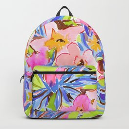 Flaunting Floral Periwinkle Backpack