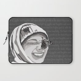 Happiness in Grayscale Laptop Sleeve