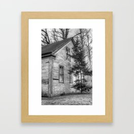 Empty on Depot Street Framed Art Print