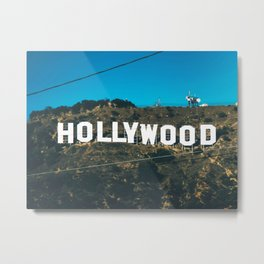 The Hollywood Sign Metal Print