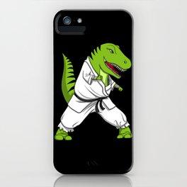 Karate T-Rex Dinosaur Ninja Martial Arts iPhone Case