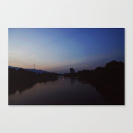 Blue River Canvas Print