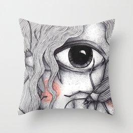 Cyclops Girl  Throw Pillow