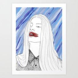 Lipstick Smudge Art Print