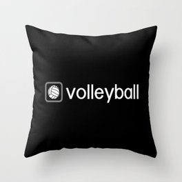 Volleyball (Grey) Throw Pillow