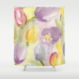 Tulip Bouquet Shower Curtain