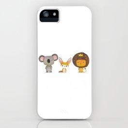 Koala, Fennec & Mr.Lion iPhone Case