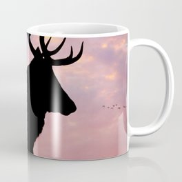 Stag And Sunset Coffee Mug