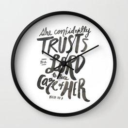 Psalm 112:7 Wall Clock