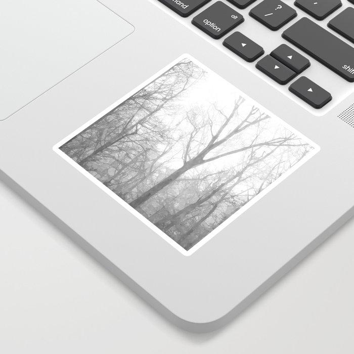 Black and White Forest Illustration Sticker