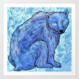 Knut the Polar Bear Art Print