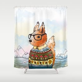 hipsta Squirrel Shower Curtain