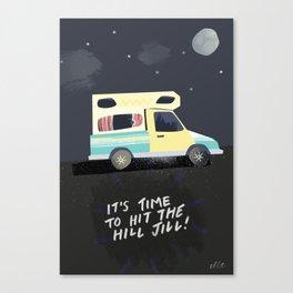 Hit the Hill Jill Canvas Print