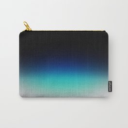 Blue Gray Black Ombre Carry-All Pouch