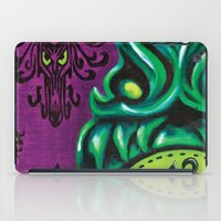 "haunted mansion iPad Cases featuring Disneyland Haunted Mansion inspired ""Wall-To-Wall Creeps No.3""  by ArtisticAtrocities"