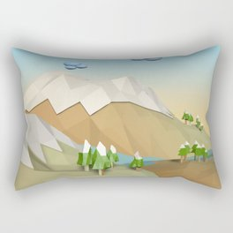 Landscape Low Poly B2 Rectangular Pillow