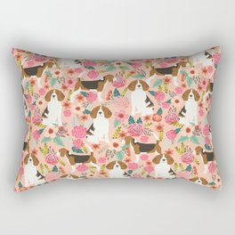 Beagle floral dog breed pattern pet gifts for beagle owners must have beagles Rectangular Pillow