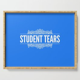 Student Tears Serving Tray