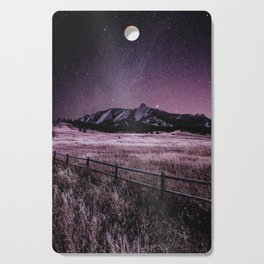 Stars in over the Mountain Cutting Board