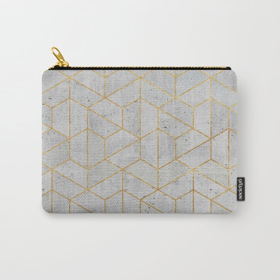 Concrete Hexagonal Pattern Carry-All Pouch