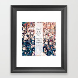 Daily Meditation Quote Framed Art Print