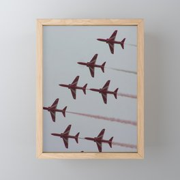 Royal Air Force Fighter Planes In Formation Framed Mini Art Print