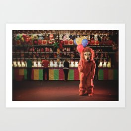 Lion at the Carnival Art Print