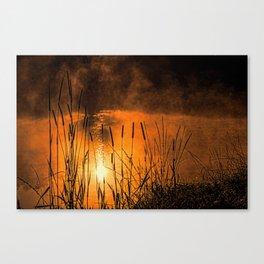 Sunrise at the lake /Sonnenaufgang am See Canvas Print