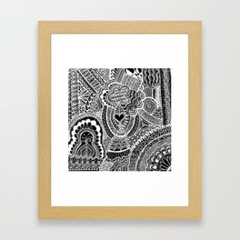 Love Doodle Framed Art Print