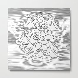 Black and white graphic - sound wave illustration Metal Print