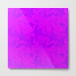 Calm intersecting blurred purple stars on a lilac background. Metal Print