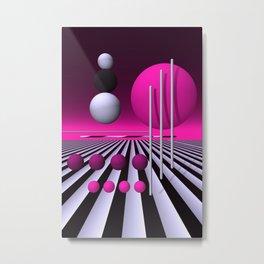 go pink -3- Metal Print