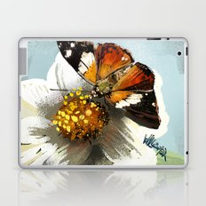 Butterfly on flower 12 Laptop & iPad Skin