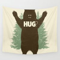 hug Wall Tapestries featuring Bear Hug? by Fanboy30