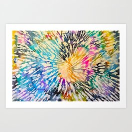 Multi Color Explosion Art Print