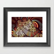 Vintage fractal 1 Framed Art Print