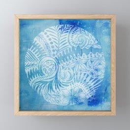 Mandala ferns and NZ foliage Framed Mini Art Print