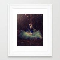 goat Framed Art Prints featuring Goat by Flashbax Twenty Three