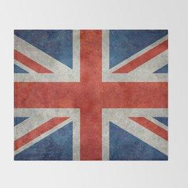 "English Flag ""Union Jack"" bright retro 3:5 Scale Throw Blanket"