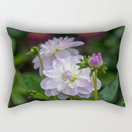Porcelain Dahlia With Dewdrops Rectangular Pillow