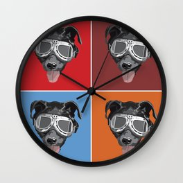 Goggles McGee - Dog With Goggles Wall Clock