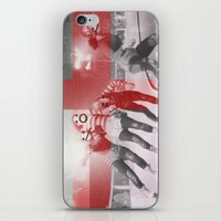 roller derby iPhone & iPod Skins featuring Punchtuation Roller Derby by Vin Zzep