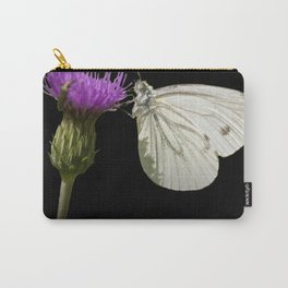 "White butterfly ""Pieris napi"" Carry-All Pouch"