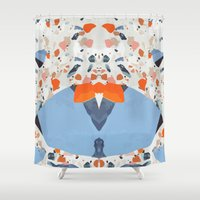 swedish Shower Curtains featuring Swedish Lava by Pearlyn Chiam