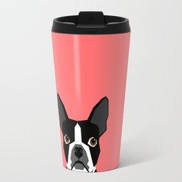 Kennedy - Boston Terrier cute dog themed gifts for small dog owners and Boston Terrier gifts  Travel Mug